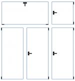 pětikřídlé okno (1x sklopný, 1x otvíravý světlík)